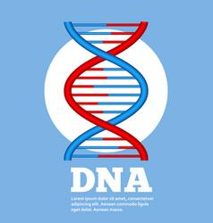 genetic engineering concept with robot hand vector image