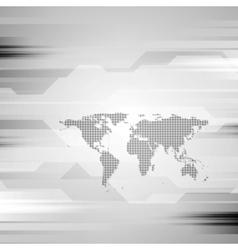 Geometric grey hi-tech background vector