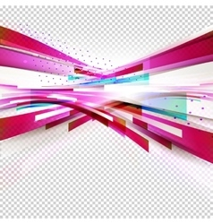 Geometric pink with transparent vector image vector image