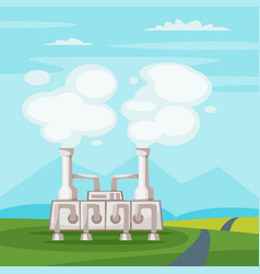 Geothermal power plant vector