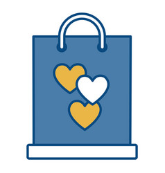 gift bag with heart icon vector image