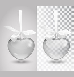 glass romantic decoration with a ribbon on vector image