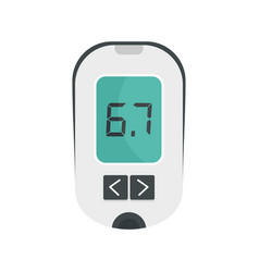 glucometer icon flat style vector image