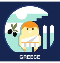 Greek Resident in vector