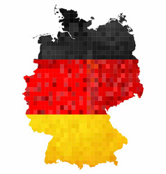 grunge germany map with flag inside vector image