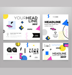 Headline banner - modern set of abstract vector