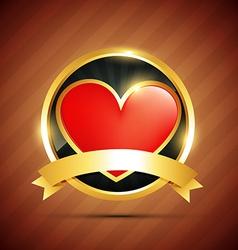 heart badge vector image