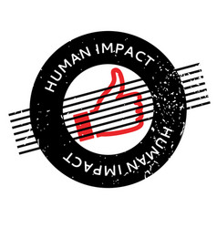 Human impact rubber stamp vector