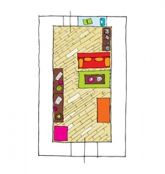 interior design apartments top view vector image