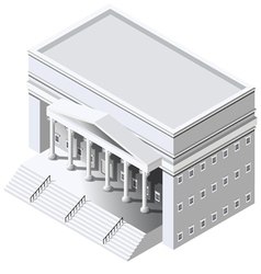 Isometric Government building vector image
