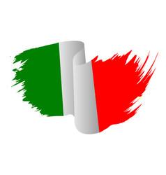 italy flag symbol icon design italian flag color vector image