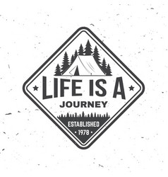 life is a journey summer camp concept vector image