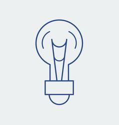 light bulb line icon lamp vector image