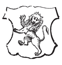Lion rampant gardant is traditionally symbolizes vector