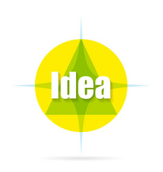 logo idea with shadow vector image