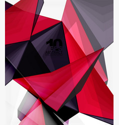 Low poly geometric 3d shape background vector
