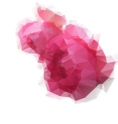 Low poly roses vector