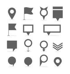 Map marker and pin collection set vector