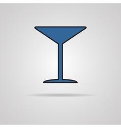 Martini glass icon vector