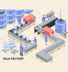 Milk factory vector