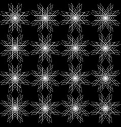 monochrome geometrical pattern of stars vector image