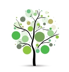 Multicolored circles tree vector image