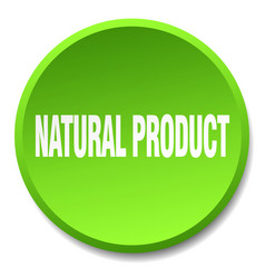 Natural product green round flat isolated push vector