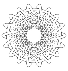 Nordic ethnic circular pattern vector