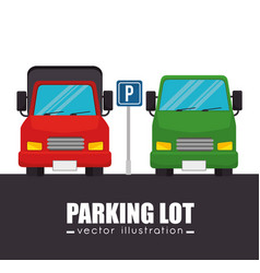 parking lot cars graphic vector image