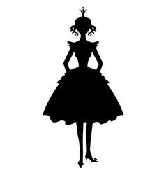 Princess girl silhouette vector