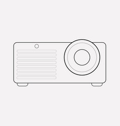 Projector icon line element vector