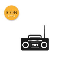 radio cassette icon isolated flat style vector image