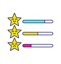 Rating scale color icon vector