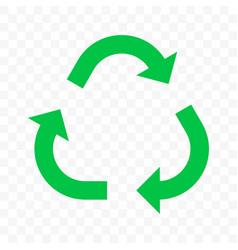 recycling arrow icon eco waste reuse bio recycle vector image