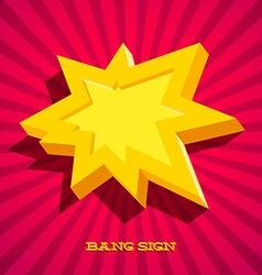 Retro card with explosion sign vector