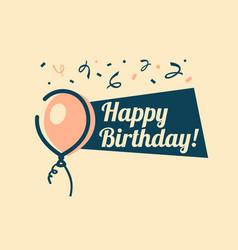 Retro happy birthday greeting card vector