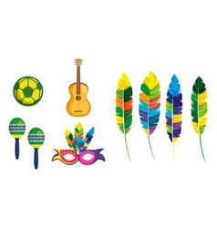 Rio carnival brazilian card vector