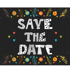 Save the date card Wedding invitation card with vector image