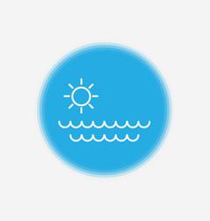sea icon sign symbol vector image