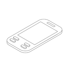 Smartphone icon isometric 3d style vector