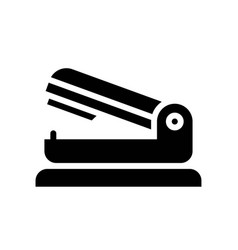 Stapler back to school solid design icon vector