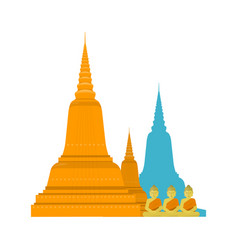 Thailand templ with buddha vector