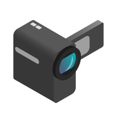 Video camera isometric 3d icon vector