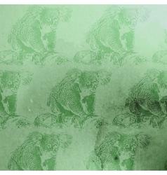 Vintage of green watercolor koala bears patt vector