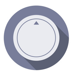 Volume round control knob flat icon dial knob vector