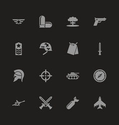 War - flat icons vector