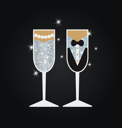 Wedding glasses wedding glasses vector