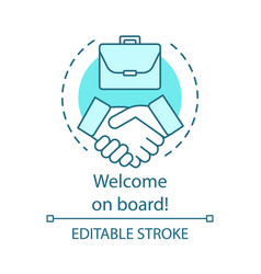 welcome on board concept icon successful deal vector image