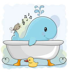 Whale in the bathroom vector
