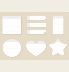 white realistic style empty paper sticky notes iso vector image